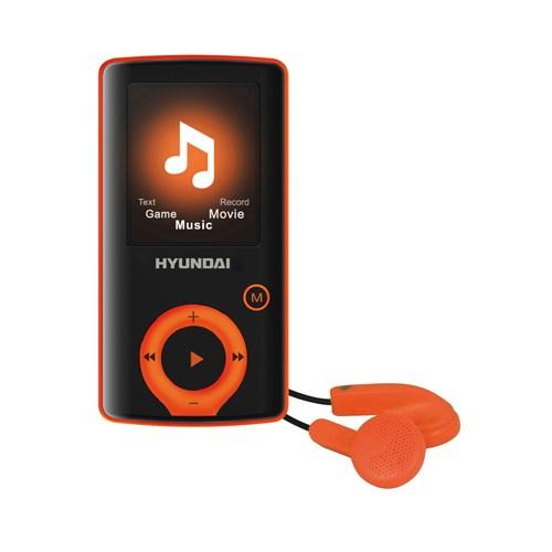 Přehrávač MP3/MP4 Hyundai MPC 883 FM, 4GB, černá barva - oranžový proužek + doprava zdarma