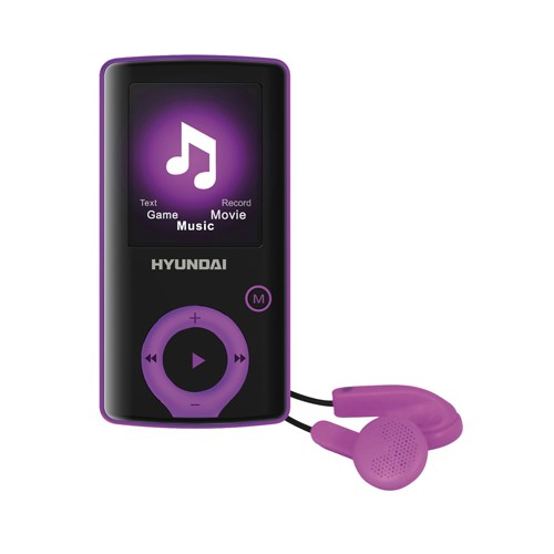 Přehrávač MP3/MP4 Hyundai MPC 883 FM, 8GB, černá barva - fialový proužek + doprava zdarma
