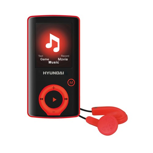 Přehrávač MP3/MP4 Hyundai MPC 883 FM, 8GB, černá barva - červený proužek + doprava zdarma