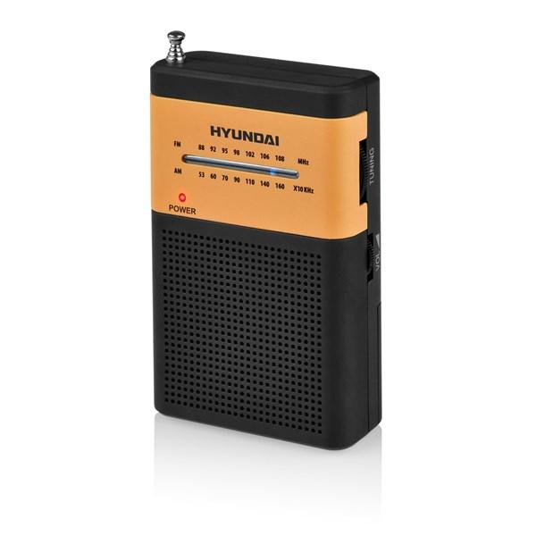 Radiopřijímač Hyundai PPR 310 BO, černý/oranžový