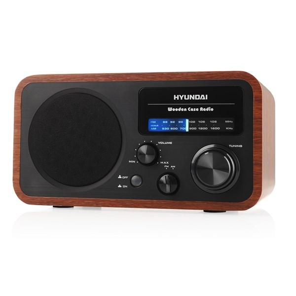 Radiopřijímač Hyundai PR 309 W, dřevěné provedení + doprava zdarma
