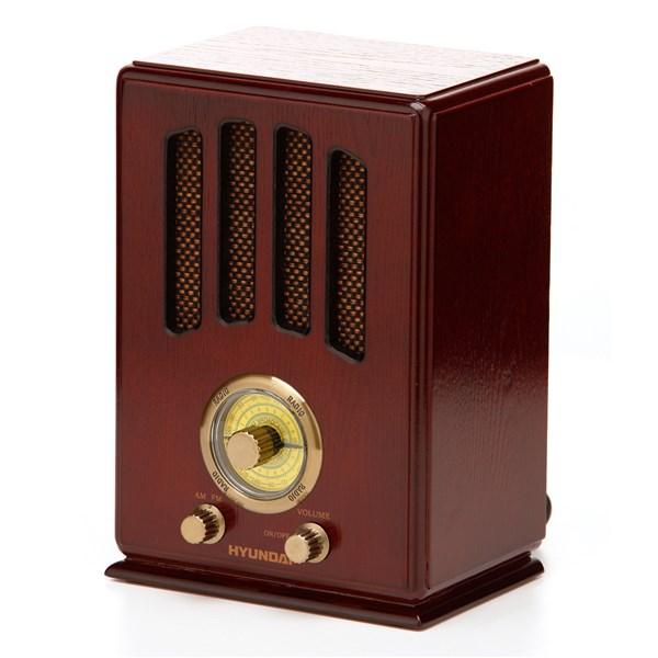 Radiopřijímač Hyundai RA 104 RETRO, třešeň + doprava zdarma