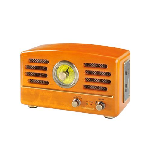 Radiopřijímač Hyundai RA 302 RETRO, USB/SD, dub + doprava zdarma