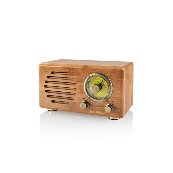 Radiopřijímač Hyundai RA 410B RETRO, bambus + doprava zdarma