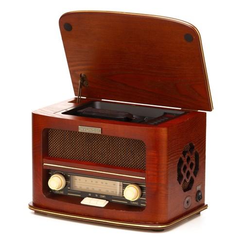 Radiopřijímač s CD Hyundai RC606 RETRO, třešeň + doprava zdarma