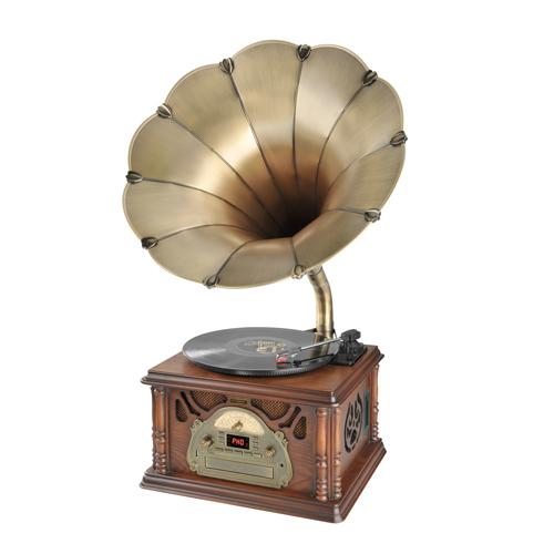Gramofon s CD Hyundai RTCC 411 RIP RETRO, FM, vlašský ořech + doprava zdarma