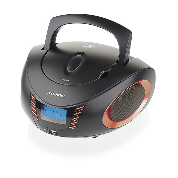 Radiopřijímač Hyundai TRC 182 ADRU3BR, CD/MP3/USB, černý/červený + doprava zdarma