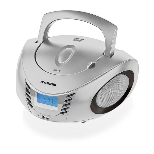 Radiopřijímač Hyundai TRC 182 ADRU3SB, CD/MP3/USB, stříbrný/černý + doprava zdarma