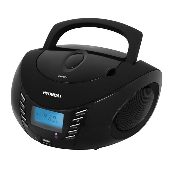 Radiopřijímač Hyundai TRC 282 DRU3, CD/MP3/USB, černý + doprava zdarma