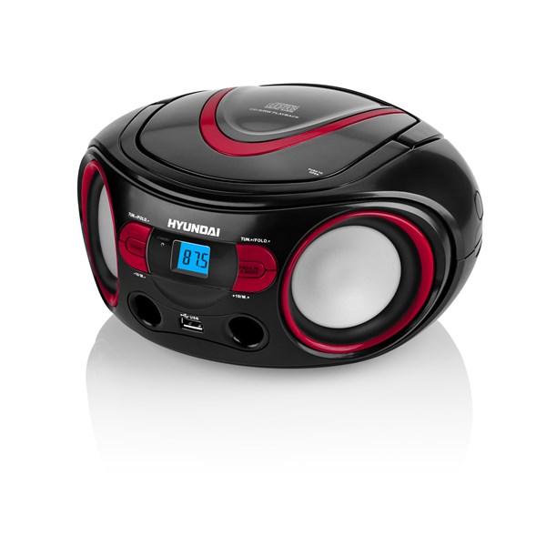 Radiopřijímač Hyundai TRC 533 AU3BR s CD/MP3/USB, černá/červená + doprava zdarma