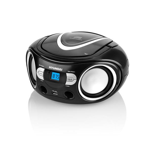Radiopřijímač Hyundai TRC 533 AU3BS s CD/MP3/USB, černá/stříbrná + doprava zdarma