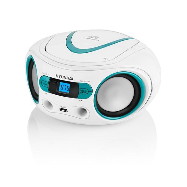 Radiopřijímač Hyundai TRC 533 AU3WBL s CD/MP3/USB, bílá/modrá + doprava zdarma