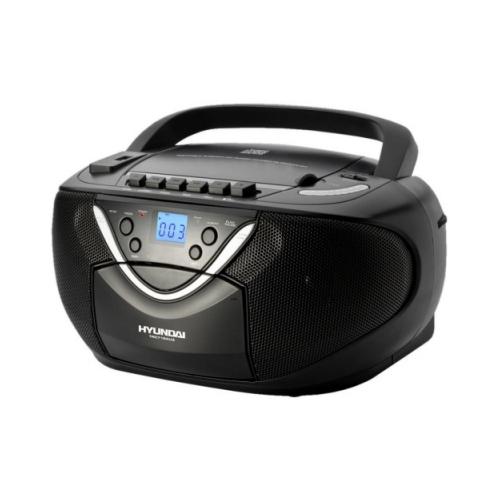 Radiomagnetofon Hyundai TRC 718 AU3 s CD/MP3 černá + doprava zdarma