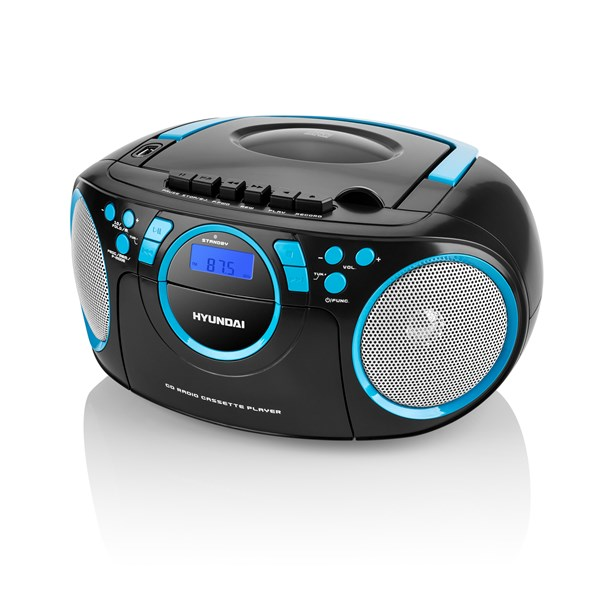 Radiomagnetofon Hyundai TRC 788 AU3BBL s CD/MP3/USB, černá/modrá + doprava zdarma