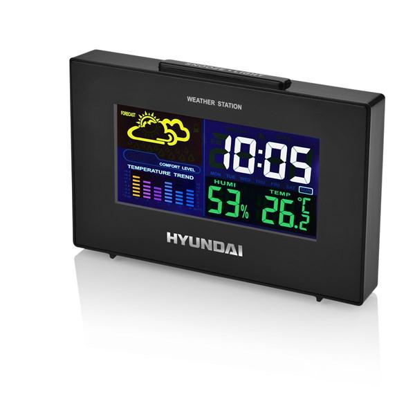 Meteorologická stanice Hyundai WS 2020, barevný displej, černá barva