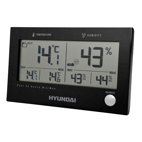 Meteostanice Hyundai WS 2215, černá + doprava zdarma