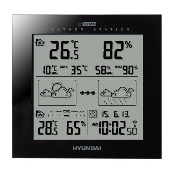 Meteostanice Hyundai WS 2244, černá barva + doprava zdarma
