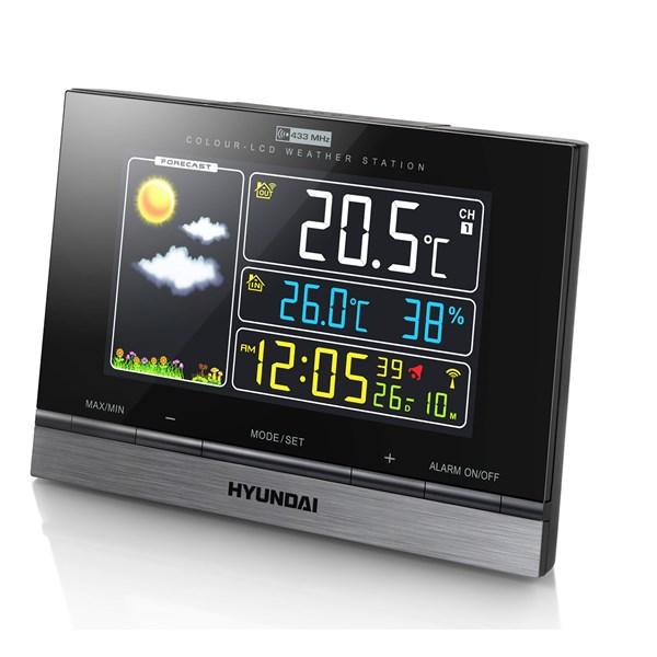 Meteostanice Hyundai WS 2303, barevný displej + doprava zdarma