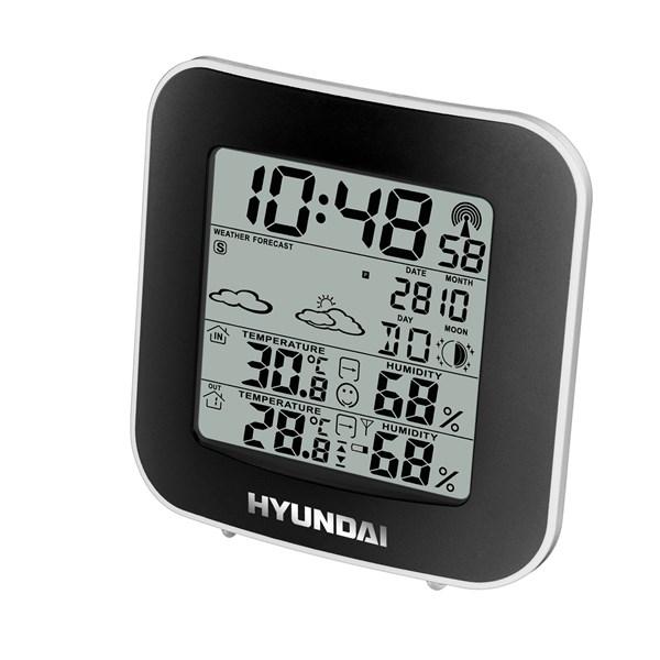 Meteorologická stanice Hyundai WS 8236, černo-stříbrná barva + doprava zdarma