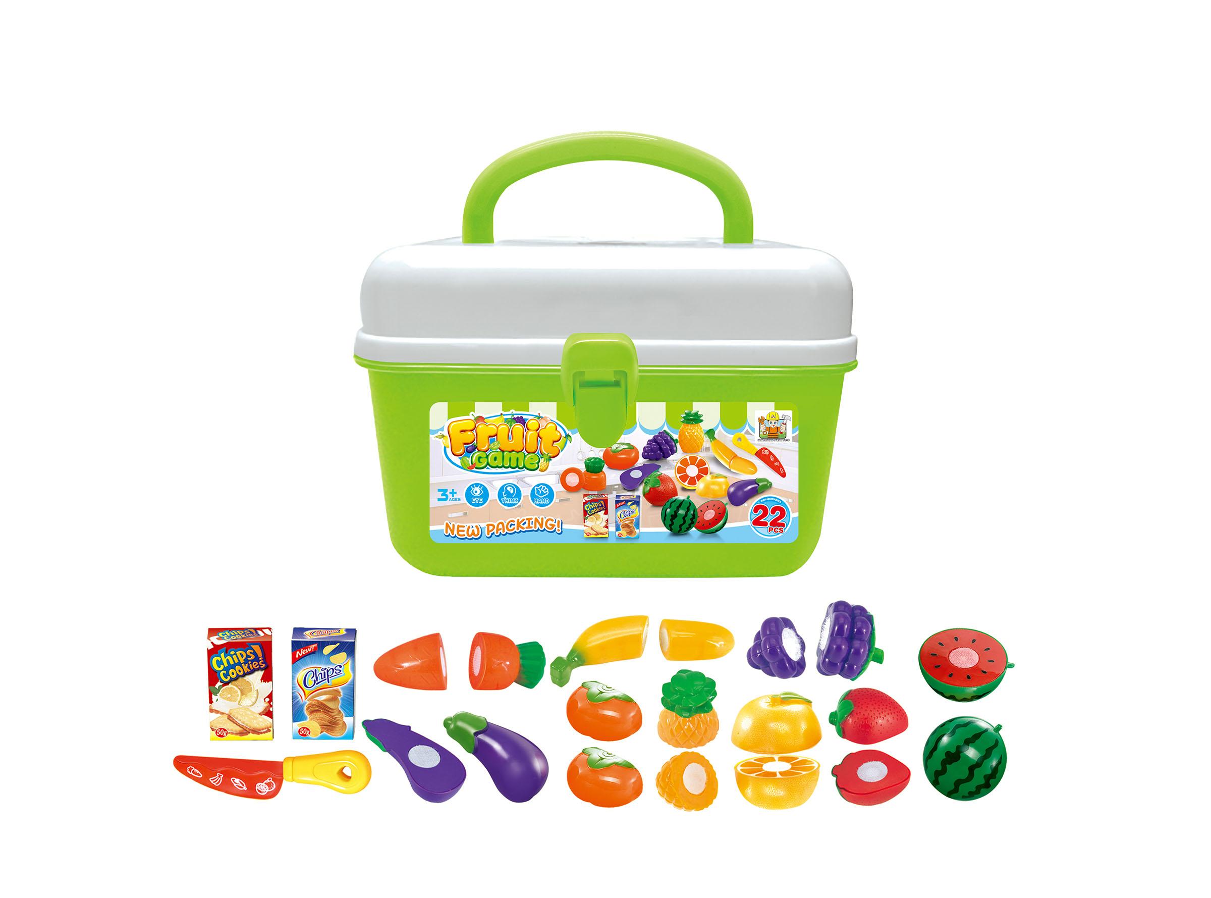 Hrací set G21 Ovoce a zelenina v kufříku