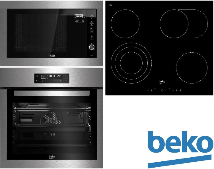 Set Beko BIM26400XCS + HIC64404T + MGB25332BG + 5 let záruka na varnou desku
